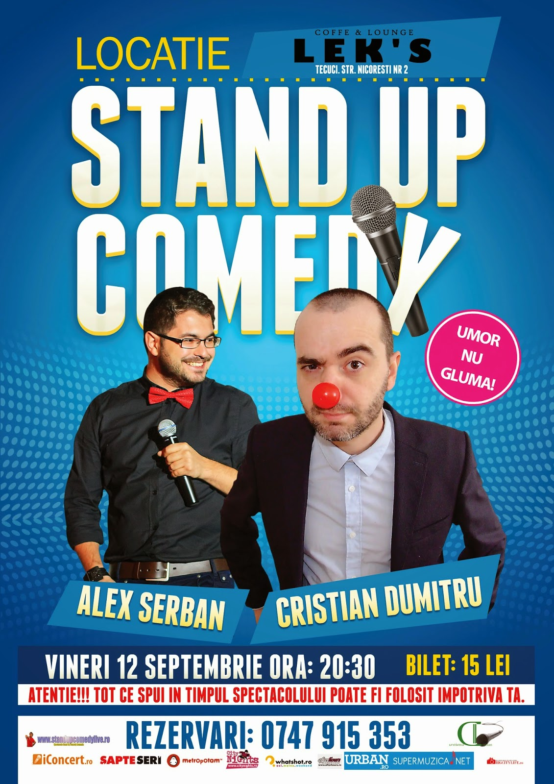 stand-up comedy la tecuci 12 septembrie