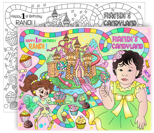 custom candyland coloring pages - photo#24