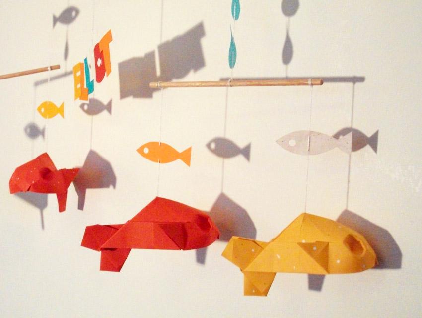 aur u00e9lie brachet design  mobiles en origami