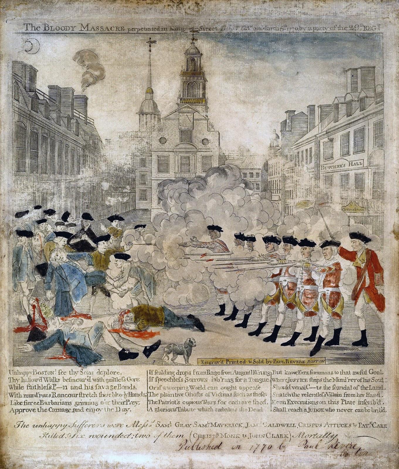 Mr. C's Class Blog: Paul Revere And The Boston Massacre