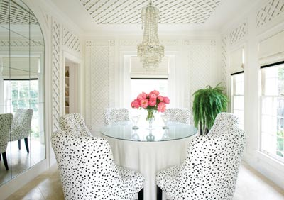 Mix and Chic Home tour Dorothy Draper inspired home