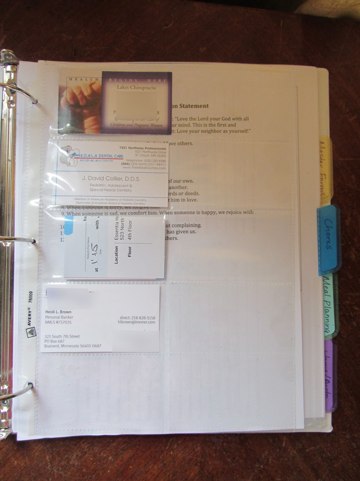 the unlikely homeschool  preparing a family notebook