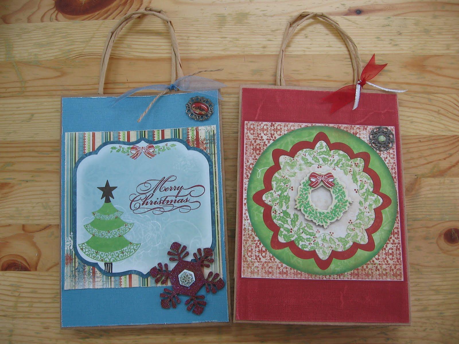 My stamping studio christmas gift bag decorating christmas gift bag decorating negle Gallery