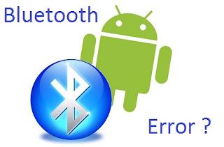memperbaiki bluetooth error
