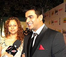 Madhava and Sarita at  Filmfare Awards