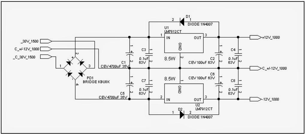 fm transmitters  positief negatief 15volt power supply 1amp