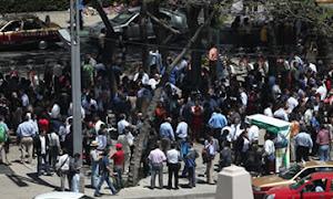 Se desploma un puente peatonal por el sismo en México