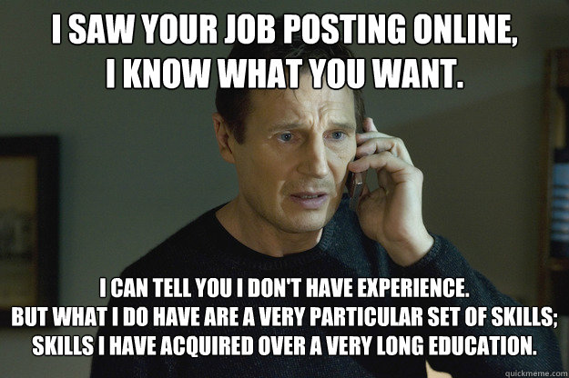 PhD Job Search Meme