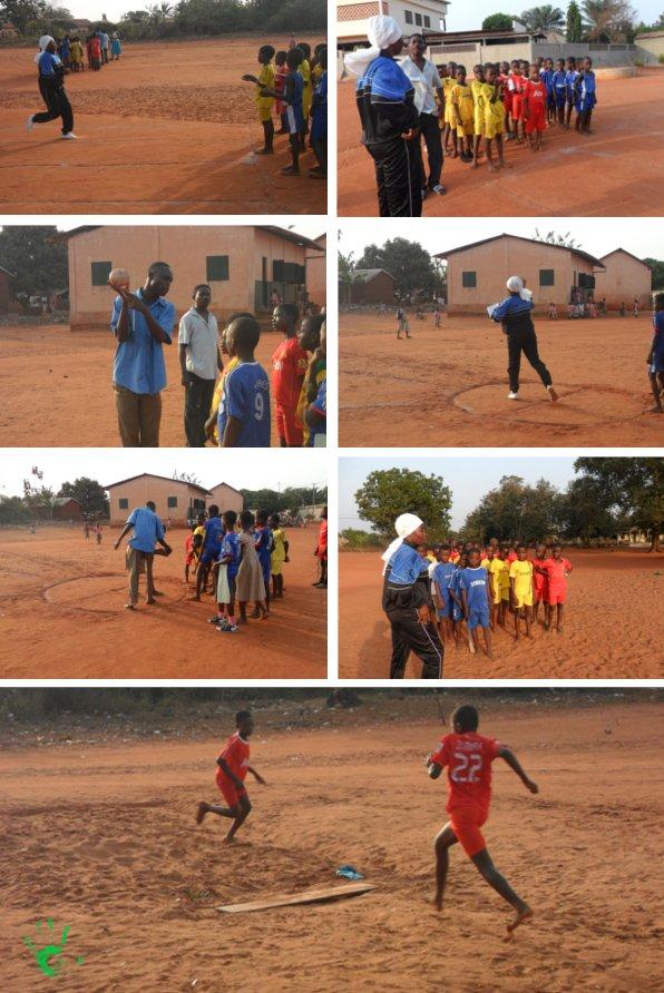 Educazione fisica per bambini nella scuola di Noepé, Togo, Africa
