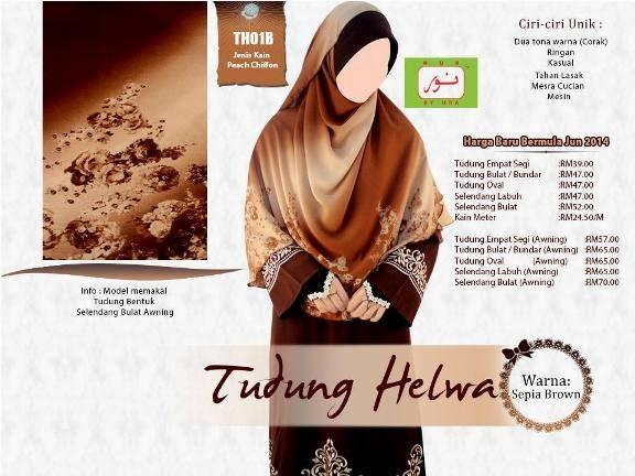 Tudung Halfmoon labuh shawl helwa