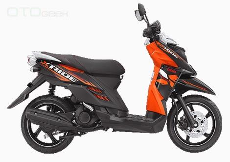 gambar motor yamaha x ride hitam