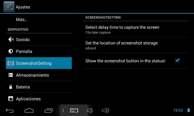 4. Seleccionamos donde se almacenarán las capturas de pantalla realizadas.