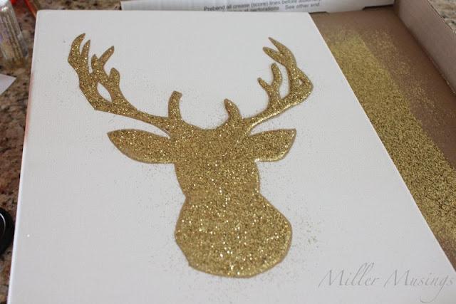 Reindeer Head Outline Template Your glittery deer head.