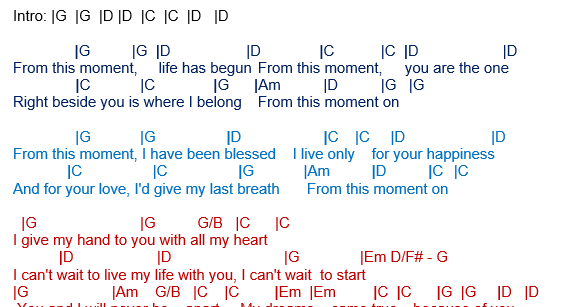 from this moment on shania twain guitar pdf