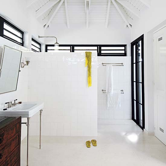 coastal style caribbean cool On cool wet rooms