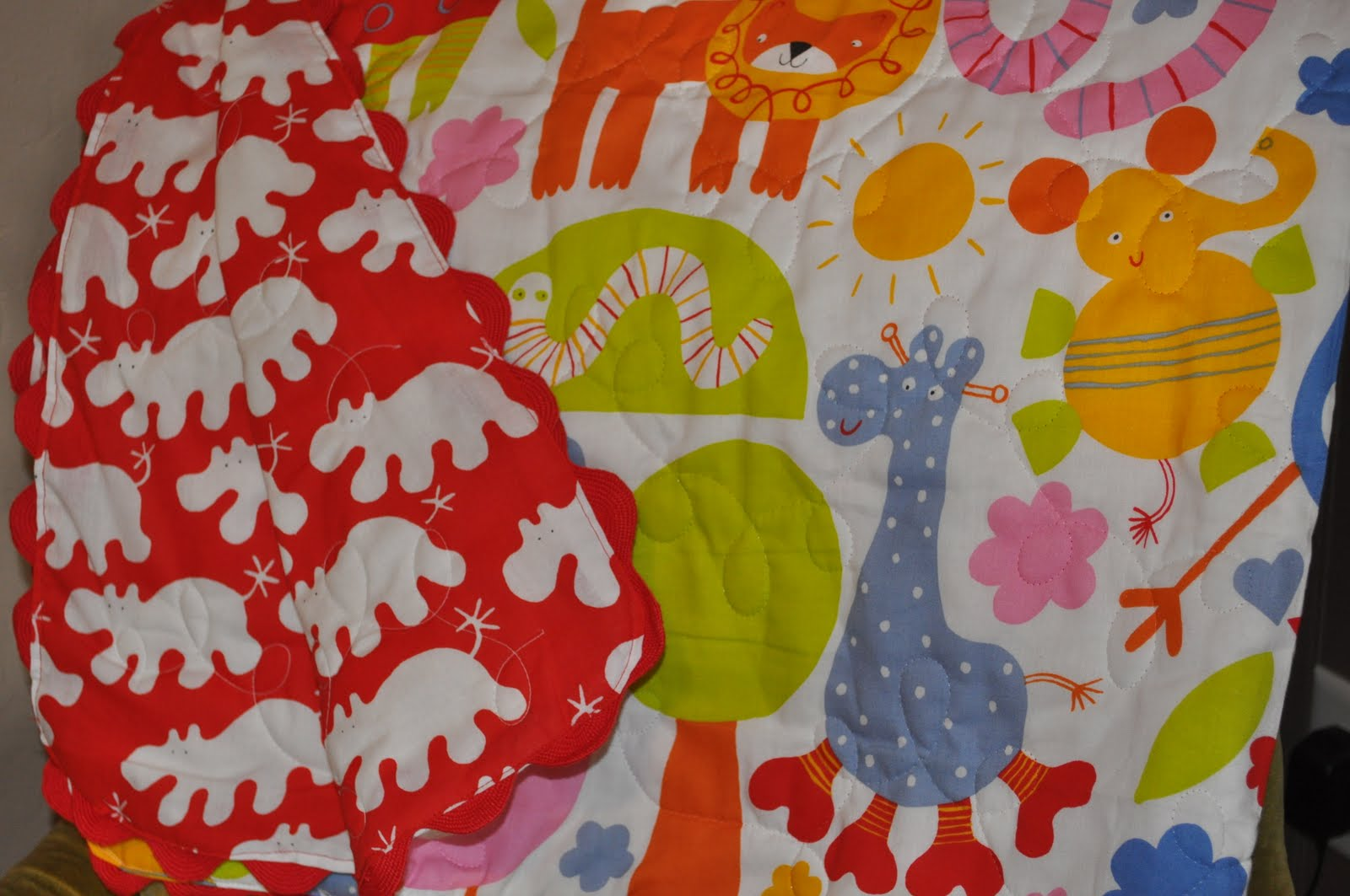 The little fabric blog project nursery easy baby blanket for Baby nursery fabric