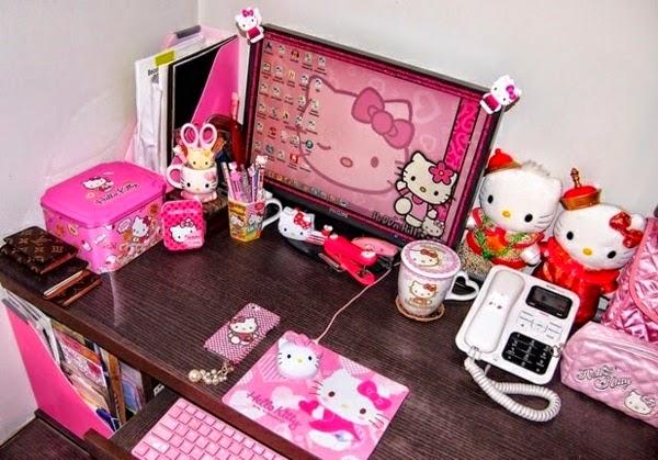 Dormitorio de hello kitty dormitorios colores y estilos for Cuarto para nina hello kitty