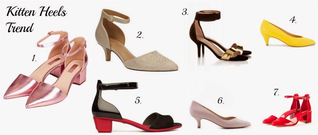Trend Tendencias primavera verano 2015 calzado tacones bajos bajitos kitten heels midi compras
