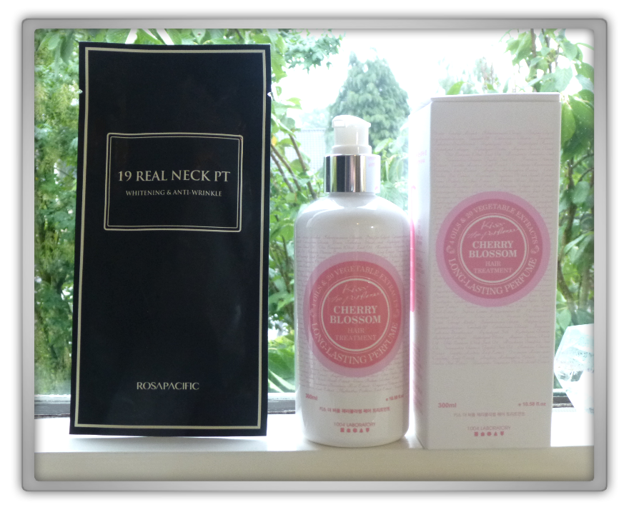 겟잇뷰티박스 by 미미박스 memebox hair & body beautybox # unboxing review preview box Rosapacific 19 real neck sheet  1004 labratory kiss the perfume brilliant hair treatment