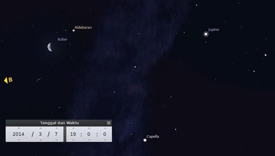 Bulan dan Bintang Aldebaran Bertemu Malam Ini