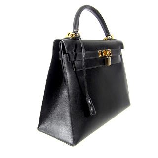 fake kelly - hermes bolide black plum