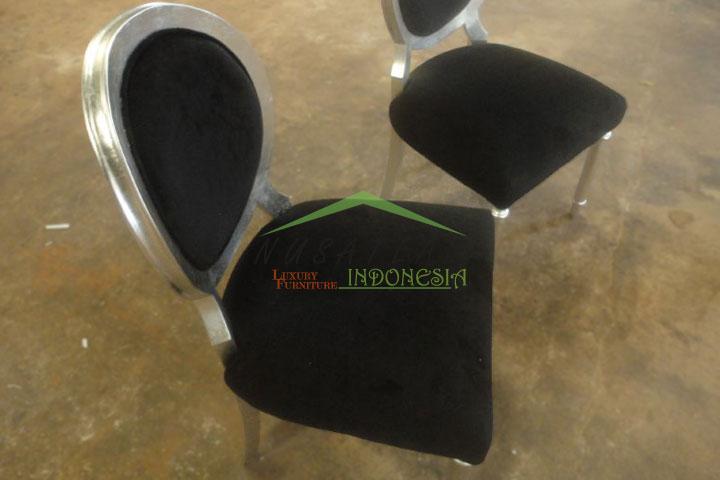 Brahma Silver Leaf Dining Chair