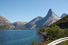 Tysfjord in Norway north of the Arctic Circle boreal zone