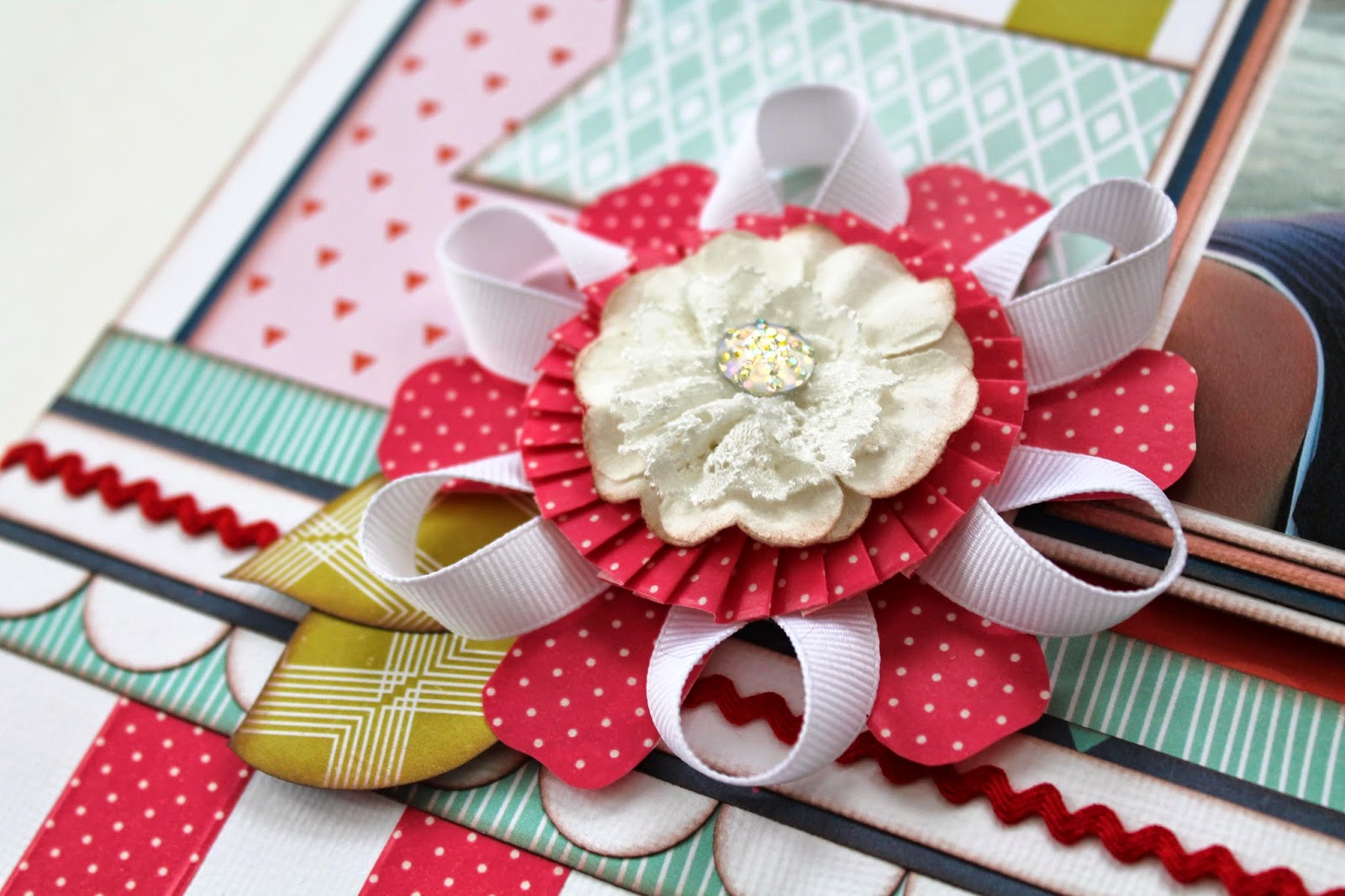 How to make scrapbook creative - This Layout Featured Some Very Pretty Washi Tape From Bella Blvd Stay Tuned For A Tutorial On How To Make This Oh So Pretty Flower Up On The My Creative