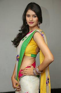 kushi young telugu actress kushi in lovely saree yellow