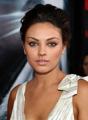 mila kunis hair up