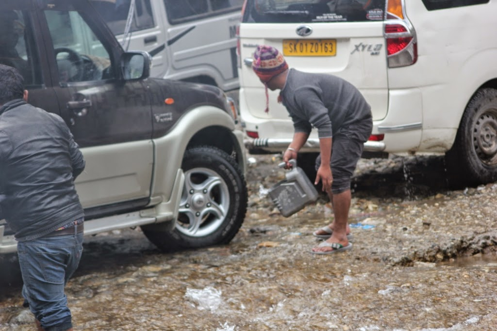 Car washing in Sikkim