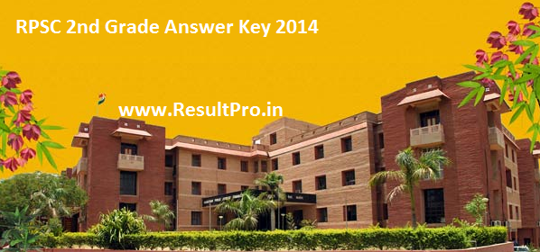 RPSC 2nd Grade Hindi Answer key 2014
