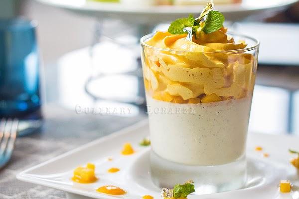 Vanilla Mango flavoured Ricotta Panna Cotta
