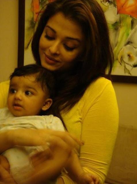 Aishwarya Rai with Baby Rai - Photo Feature
