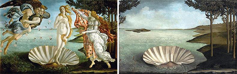 Artista muestra cómo las pinturas clásicas lucirian sin los personajes en ellos