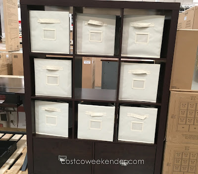 Use the Bayside Furnishings 9-cube Room Divider as a bookcase, shelves, or chest