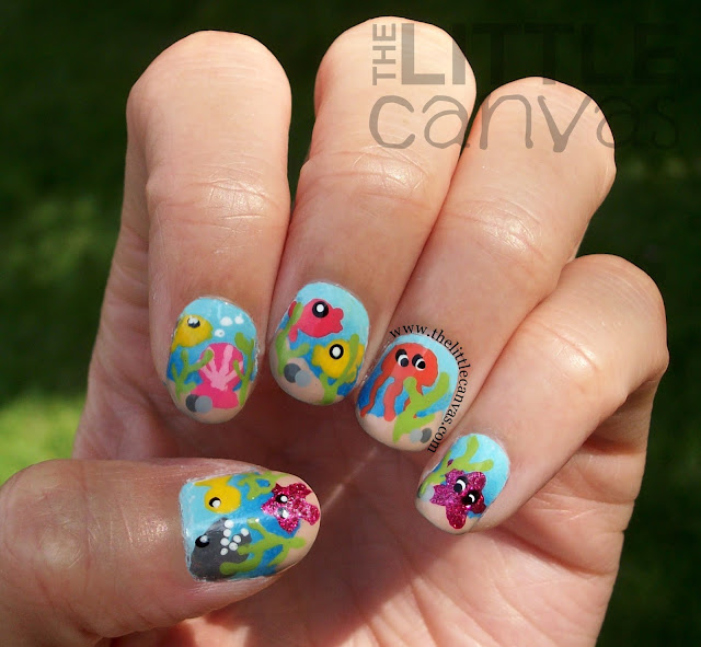 Under The Sea Nail Art Take 2 The Little Canvas