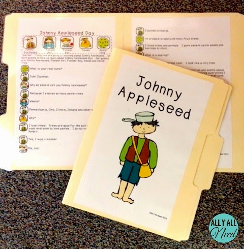 Johnny Appleseed Informative Readers' Theater by All Y'all Need