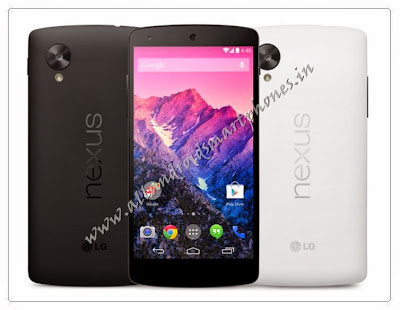 LG Nexus 5 Android 4G Phablet Smartphone Black & White Front Back Images Photos Review