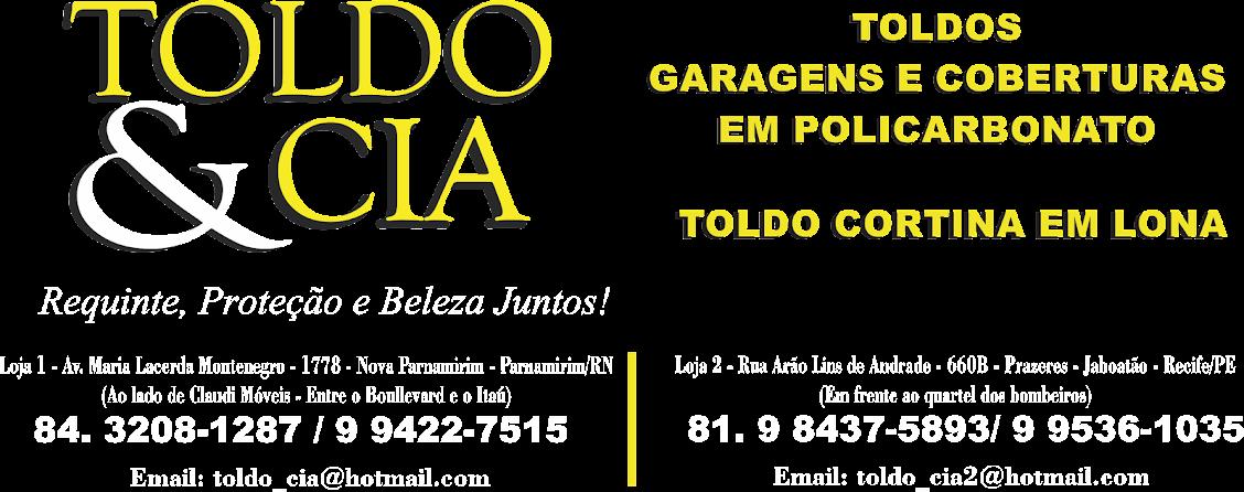 Toldo e cobertura em Policarbonato Natal/RN e Recife/PE - Toldo e Cia