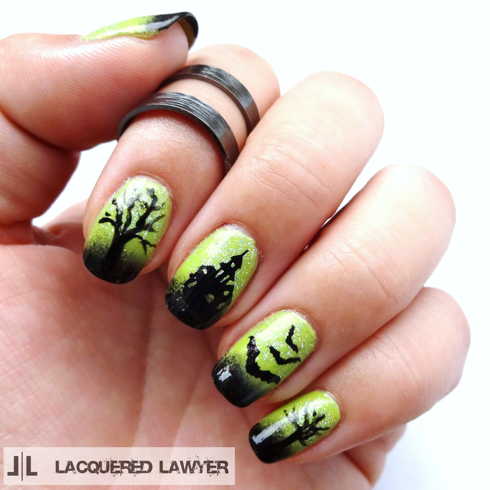 Haunted House Nail Art