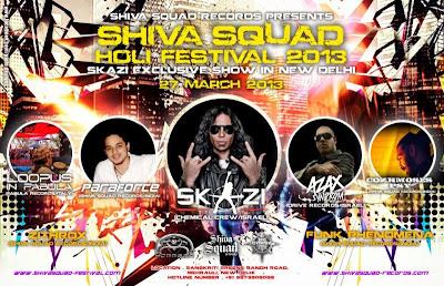 Shiva Squad Holi Festival 2013