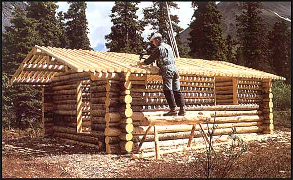 Thirteen tiny dream log cabins and a for Building a mountain cabin