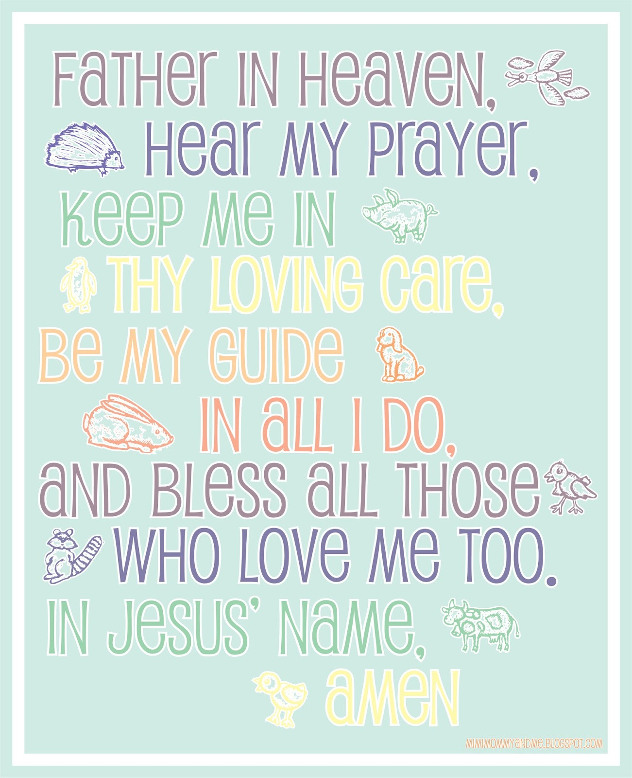 http://mimimommyandme.blogspot.com/2014/05/a-childs-prayer-free-printable.html #ChildsPrayer #Prayer #ChildrenPrayer