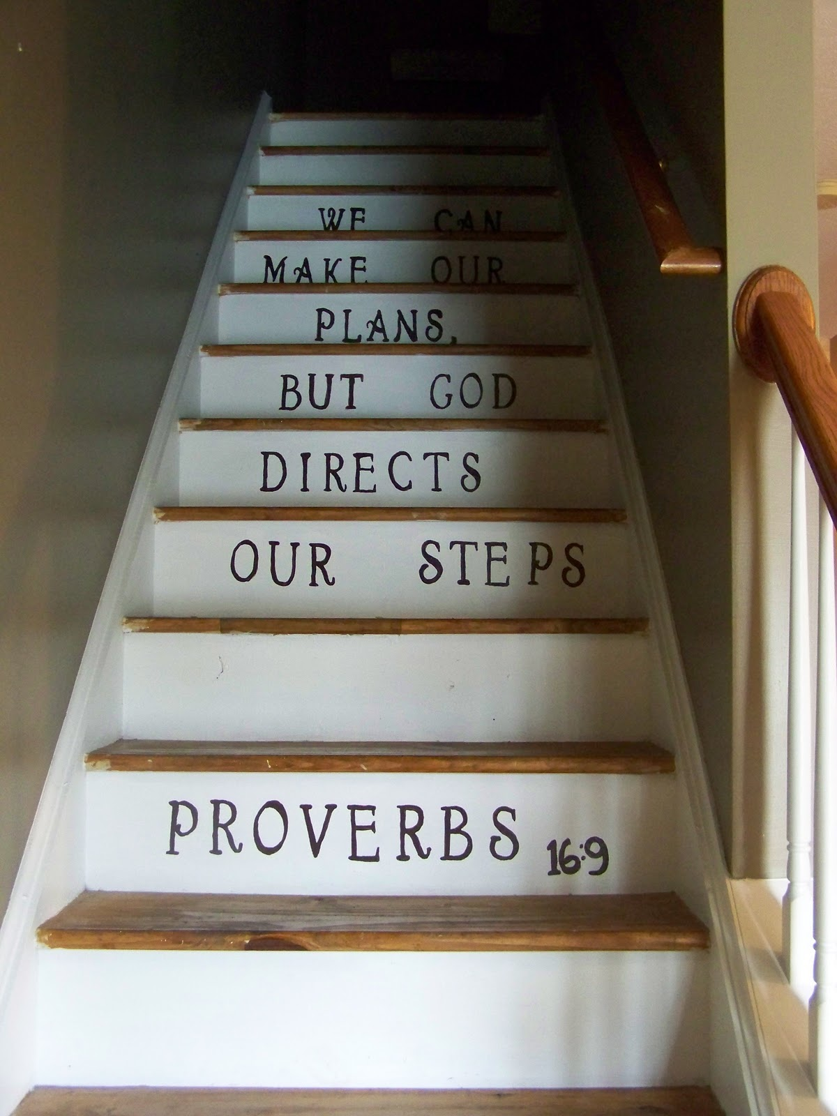 Rearranging The Furniture Stenciled Stairs