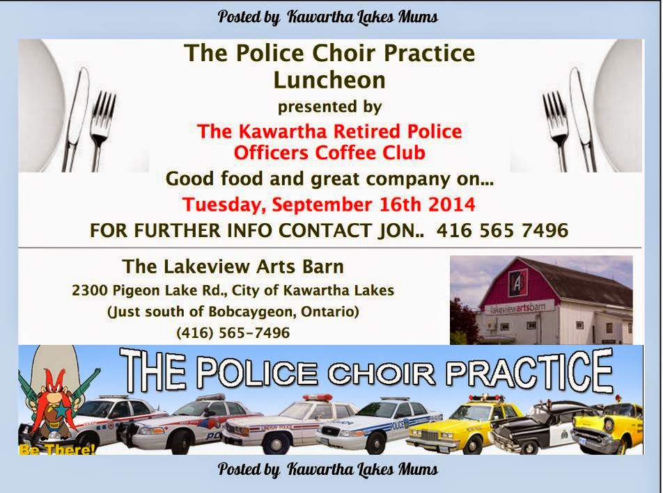 Kawartha Lakes Lakeview Arts Barn Venue for The2014  Police Choir Practice Luncheon