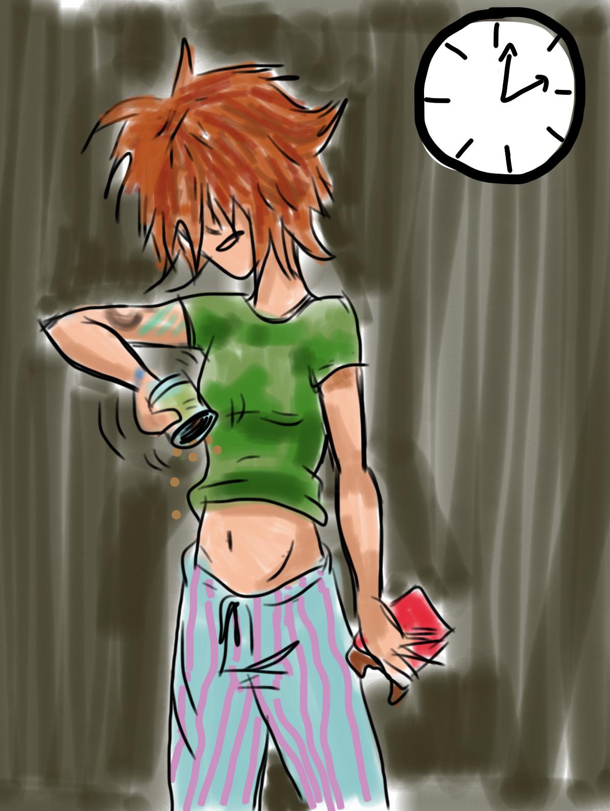 Drawing of girl shaking jar. GIRL, CRAFTED blog.