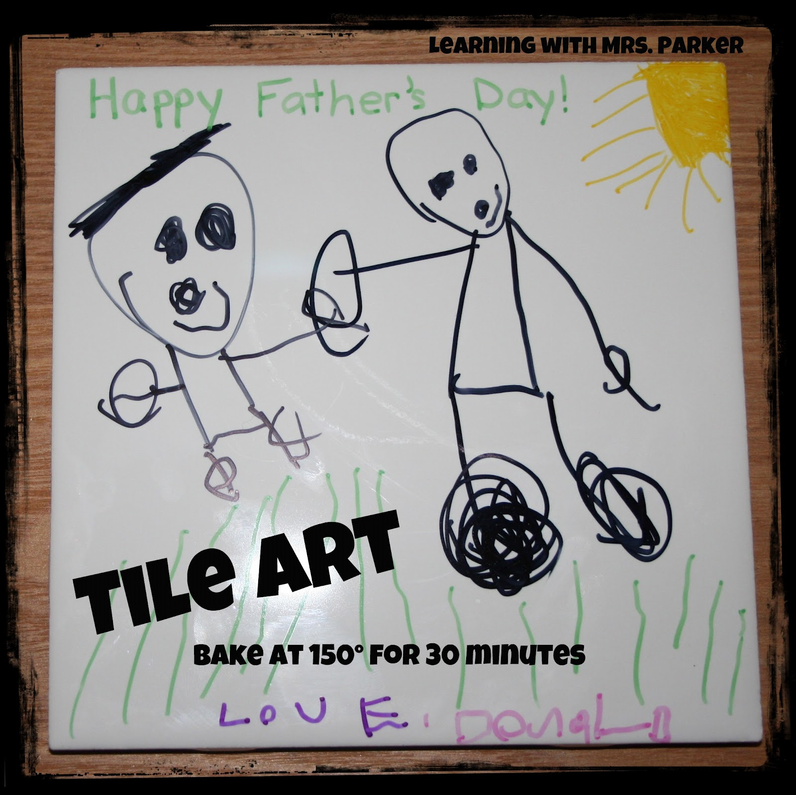 Tile Art for Father's Day - Learning With Mrs. Parker