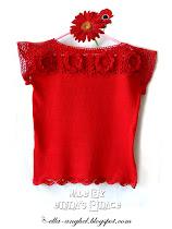 Bluză Bumbac Roşie