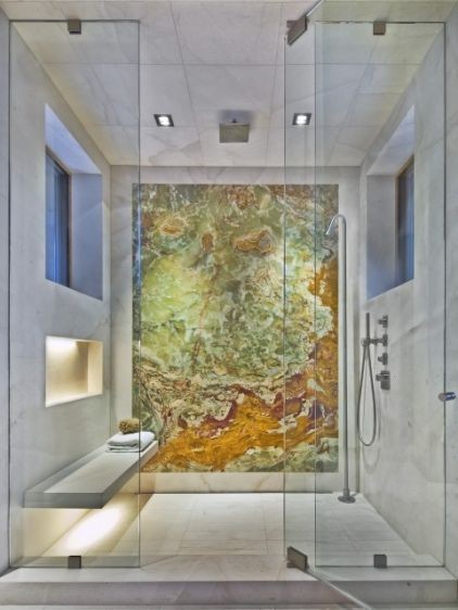 Which Of These Marble Slabs Do You Like Best? I Would Take This Shower In A  Heartbeat, But Would Switch The Slab For The Blue Marble One.